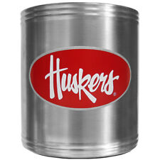 Nebraska Cornhuskers Insulated Stainless Steel Can Cooler Coozie NCAA Licensed