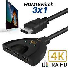 3-in-1 HDMI Kabel Splitter Verteiler Switch Umschalter Adapter 1080p 2160p 4K*2K