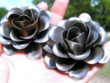 2 Large metal Roses, flowers for crafts, jewelry, embellishments, accents