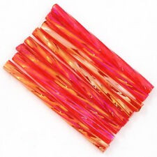 30mm Transparent Chinese Red AB Twist Bugle (40 grams) #CBR017