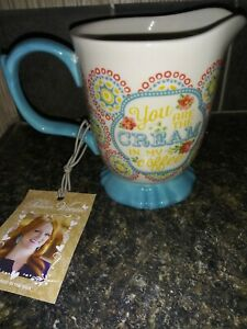 Pioneer Woman Creamer ' You Are The Cream in my coffee'  Blossom Jubilee Footed