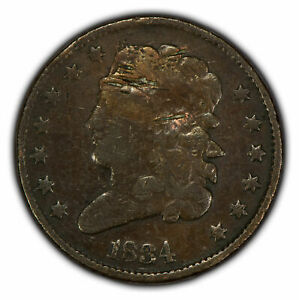 1834 1/2c Classic Head Half Cent SKU-Y2257