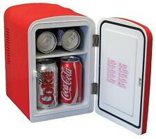 Classic Coca Cola Portable Mini Fridge/AC & DC Plugs Included