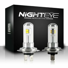 NIGHTEYE H7 Driving Lamp 160W LED Headlight Light Bulbs 6000K Daytime White DRL