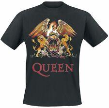 Queen Crest Vintage Männer T-Shirt schwarz   Band-Merch, Bands