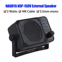 Nagoya NSP 150V External SPEAKER Fr Ham CB Communication 2Way Radio Cable 4Meter