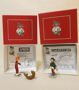 Pixi Gaston en kilt Spirou & Spip riant Franquin Etat Neuf Certificats Boites