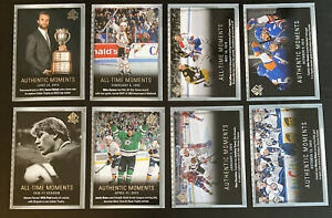 2015-16 Upper Deck SP Authentic All Time/Authentic Moments 8 Card Lot!