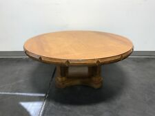 THOMASVILLE Vintage Mid Century Pecan Neo-Classical Round Coffee Cocktail Table