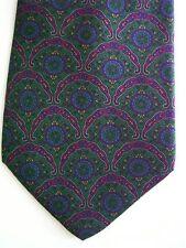 "Generic Men's Poly Novelty Neck Tie Green Blue Multi 3 5/8"" x 56"" Short"