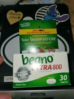 Beano Ultra 800 Gas Prevention Bloating Relief 60 Count Tablets No Gas 2 Boxes