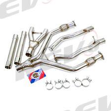 """REV9 2.5"""" - 3"""" Y-PIPES KIT STAINLESS STEEL FOR 17-20 INFINITI Q60 CV37 V6 3.L TT"""