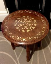 Antique Rosewood Indian table Brass And Copper