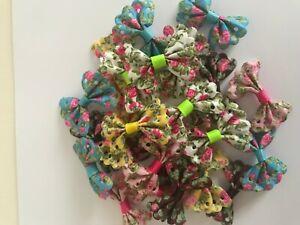 10 x 4cm Floral Bows *Various Colours*
