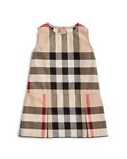 NEW Burberry Girls Mini Dawny Check Print Cotton Dress, Size 3y/98cm