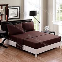 100% Egyptian Cotton 200 Thread Count Fitted Bed Sheet, Single Double King Super