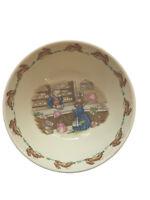 Royal Doulton Bunnykins Shopping In ms. Piggly's Store Porridge 5.75 Inch  Bowl