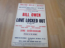 Bill OWEN in Love LOCKED Out  Women go on Strike HANLEY Theatre Royal Poster