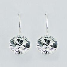 USA Seller Swarovski Crystal Earrings Sterling Silver 925 Best Deal Jewelry Gift