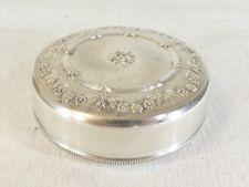 BELLE Boite a pilule ou bijoux en metal argenté S.N.P.A
