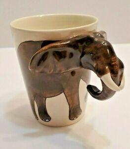 World Market 3D Elephant Coffee Mug with Trunk Handle