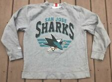 San Jose Sharks Mitchell & Ness Gray NHL Hockey Sweatshirt Size XL