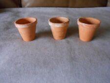 3 Vintage French terracotta  PETITS POTS PLANTERS