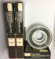 "5 Sears Easi-Load Circular Slide Tray Carousel Rotary # 39985 Holds 100 2x2 ""M3"""