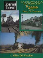 LACKAWANNA RAILROAD TRACKSIDE: steam on color film in early 1950s -- (NEW BOOK)