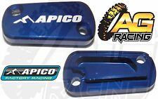 Apico Blue Rear Brake Master Cylinder Cover For Suzuki RM 125 04-08 Motocross