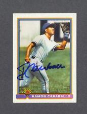 Ramon Caraballo signed 1991 Bowman Rookie baseball card