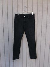 31 x 29 21 Mens Black Skinny Denim Jeans 5 Five Pocket Pants Cotton Blend Used