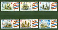 Jersey 2009 - Segelschiffe - Fregatten der britischen Flotte - Navy Nr. 1447-52
