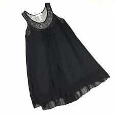 Oscar De La Renta Pink Label Size Large Nightgown Sleepwear Black Sheer Lace C2