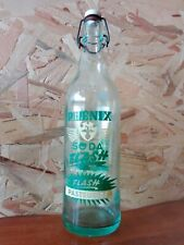 BOUTEILLE sérigraphié Limonade PHÉNIX VERT vintage collection crêperie 100 cl