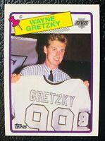 1988-89 Topps Wayne Gretzky Card #120 Sweater Card Kings /Oilers LEGEND HOF!!