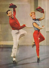 1956 vintage print photo Dancers Ginger Rogers and Ray Bolger  050417
