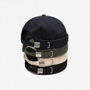 Men Women Hat Cap Casual Sailor Brimless Solid Color Hip Hop