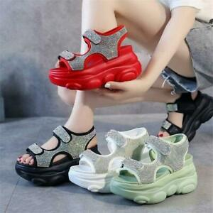 Women Gladiator Sandals High Heel Platform Fashion Sneaker Summer Comfort Shoes