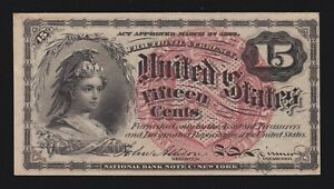 US 15c Fractional Currency 4th Issue FR 1267 Ch AU (-005)