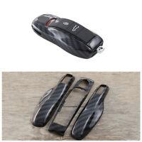ABS Carbon Fiber Remote Key Cover Case Fob For Porsche Panamera Cayenne Macan SU