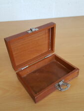 More details for vintage small wooden component / tool box engineering 17x13x6cm lwh