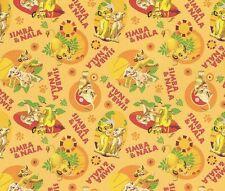 Fat Quarter Disney Lion King Simba And Nala Cubs Cotton Quilting Fabric 54467