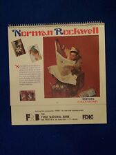 Norman Rockwell 1995 Calendar, The First National Bank