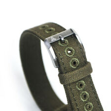 16mm Vintage Military Olive Drab Canvas Watch Strap OD#7 WWII A-11 A11 Hack