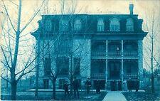A View of the Sanitarium, White Cloud MI Cyanotype RPPC 1907