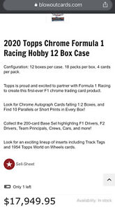 2020 Topps Chrome Formula 1 Sealed Hobby Case *12 Boxes George Russell Rookie RC
