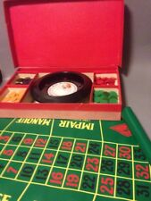 Vintage roulette boardgame boxed home casino