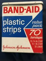 Vintage Band-Aid Brand Plastic Strips Tin - Empty