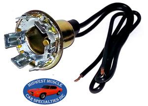 59-68 GM GMC Park Tail Stop Turn Signal Light Lamp Bulb Wiring Harness Socket E